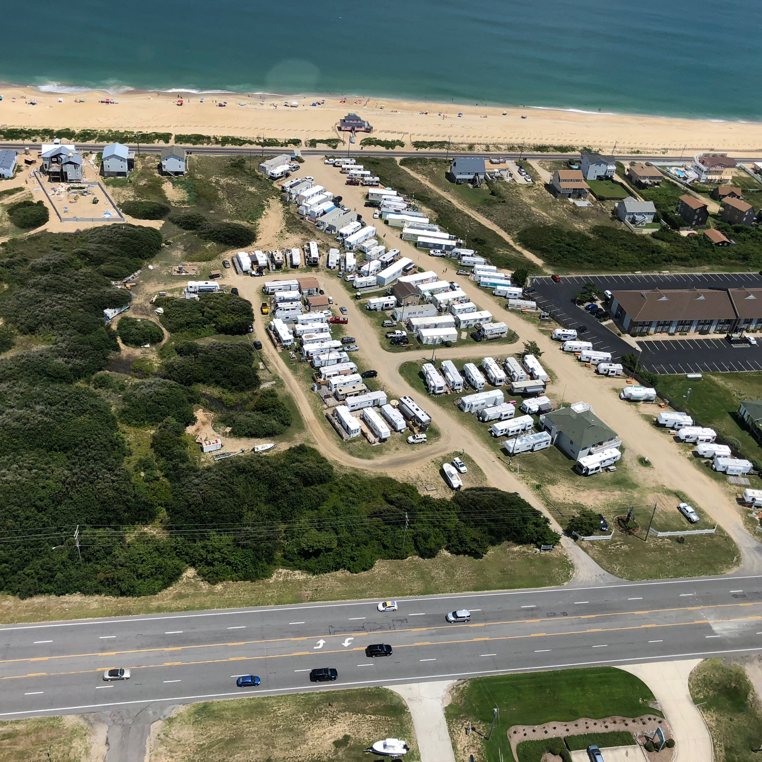 Aerial view of the RV park